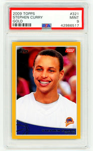 STEPHEN CURRY 2009 Topps #321 GOLD /2009 PSA 9 MINT ROOKIE CARD