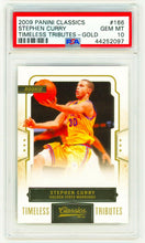 Load image into Gallery viewer, STEPHEN CURRY 2009 Panini Classics #166 TIMELESS TRIBUTE GOLD PSA 10 ROOKIE RC