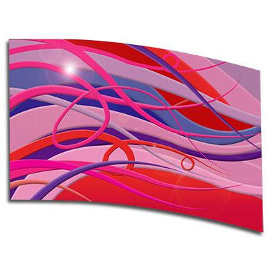 Abstract Pink & Red Strands - Motion In Ink