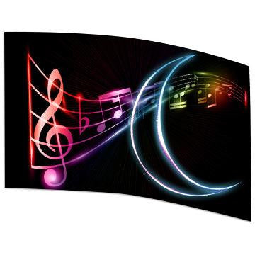 Neon Effect Music Notes - Motion In Ink