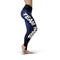 Black Blue Color Guard Legging - Motion In Ink