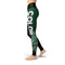 Black Green Color Guard Legging - Motion In Ink