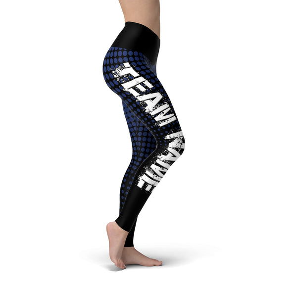 Black Navy Color Guard Legging - Motion In Ink
