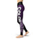 Black Purple Color Guard Legging - Motion In Ink