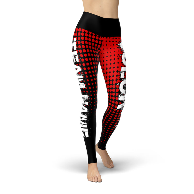 Black Red Color Guard Legging - Motion In Ink