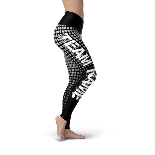 Black Silver Color Guard Legging - Motion In Ink