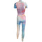 Watercolor Eye Short Sleeve Unitard - Motion In Ink