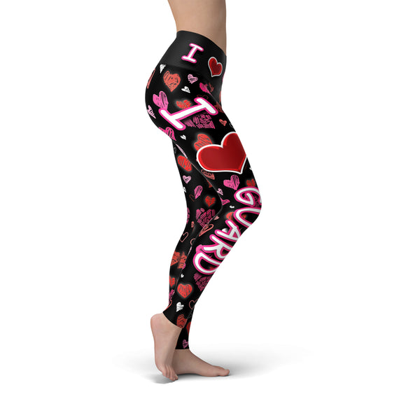 I  Heart Guard  Butterysoft Legging - Motion In Ink