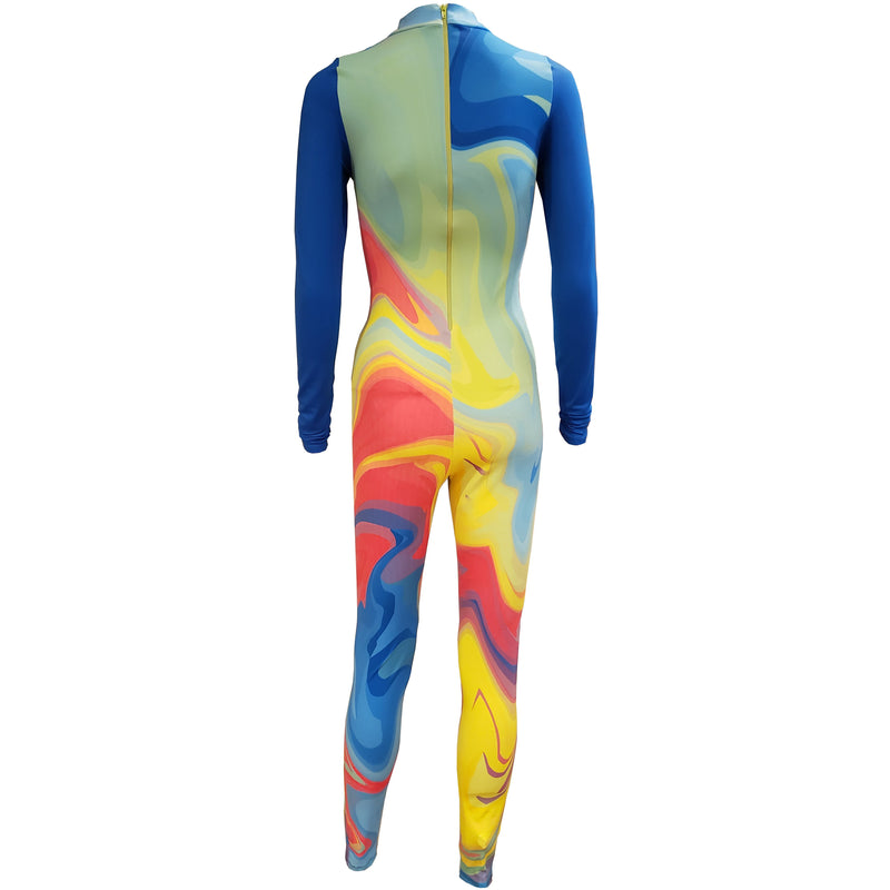 Rainbow Liquid Unitard - Motion In Ink
