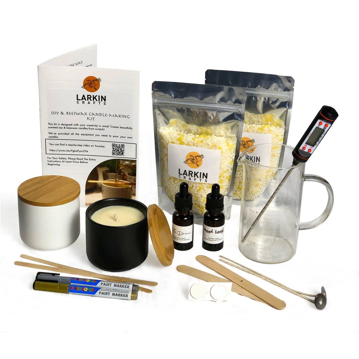 Candle Making Kit for 2 Large Scented Candles