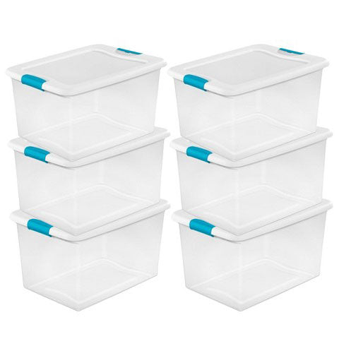 storage containers for organizing RV closets and cabinets