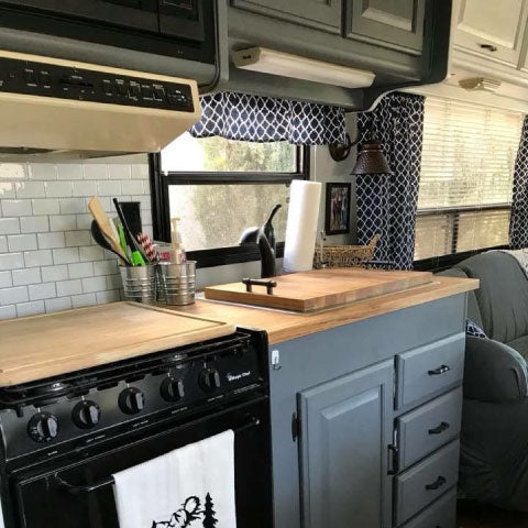 sink and stove covers for rv camper trailer organization