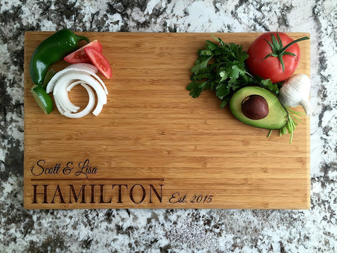 personalized cutting board closing gift