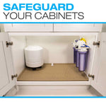 Under Sink Cabinet Mats for the Kitchen, Bath, and Laundry