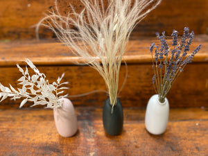 Dried Lavender in Kinto SACCO Porcelain Vase (White)