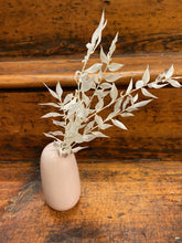 Load image into Gallery viewer, Dried White Ruscus in Kinto SACCO Porcelain Vase (Pink)