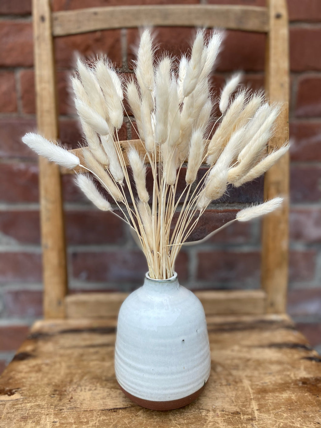 Bunny Tails in Ceramic Two-Tone Budvase
