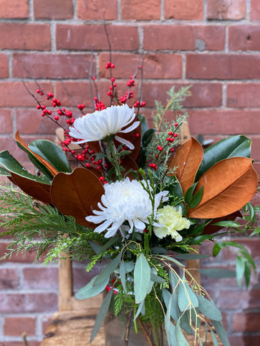 Festive Arrangement in Glass Jar