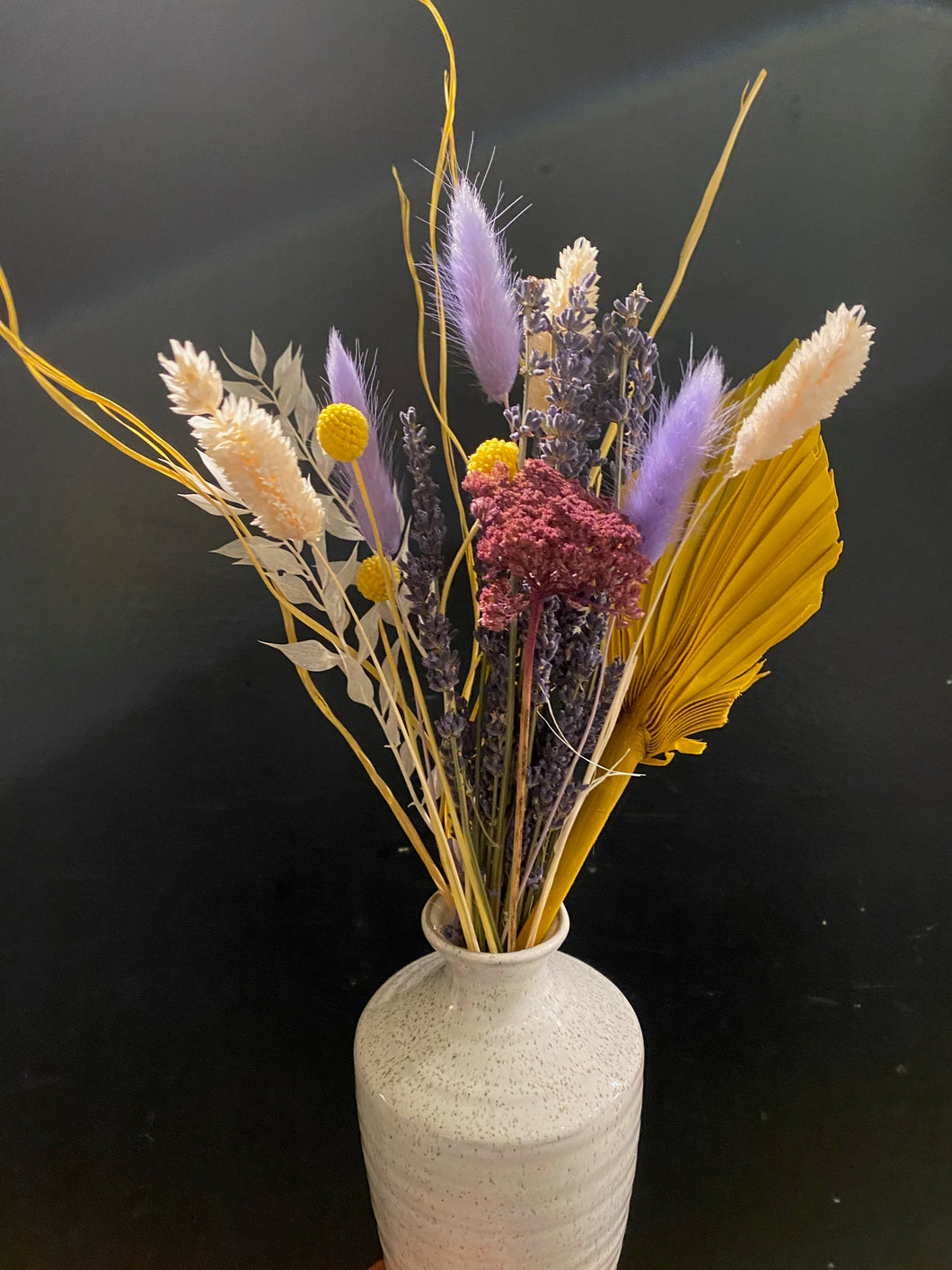 Spring Rustic Dried Arrangement in Bud Vase