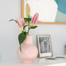 Load image into Gallery viewer, Fresh Genisteae in Large Coral Raawii Strøm Vase