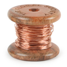 Load image into Gallery viewer, Copper Wire on Mini Wooden Spool (50 feet)