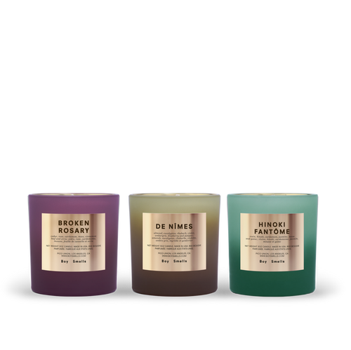 Boy Smells RITUAL VOTIVES Set of 3 Mini Candles