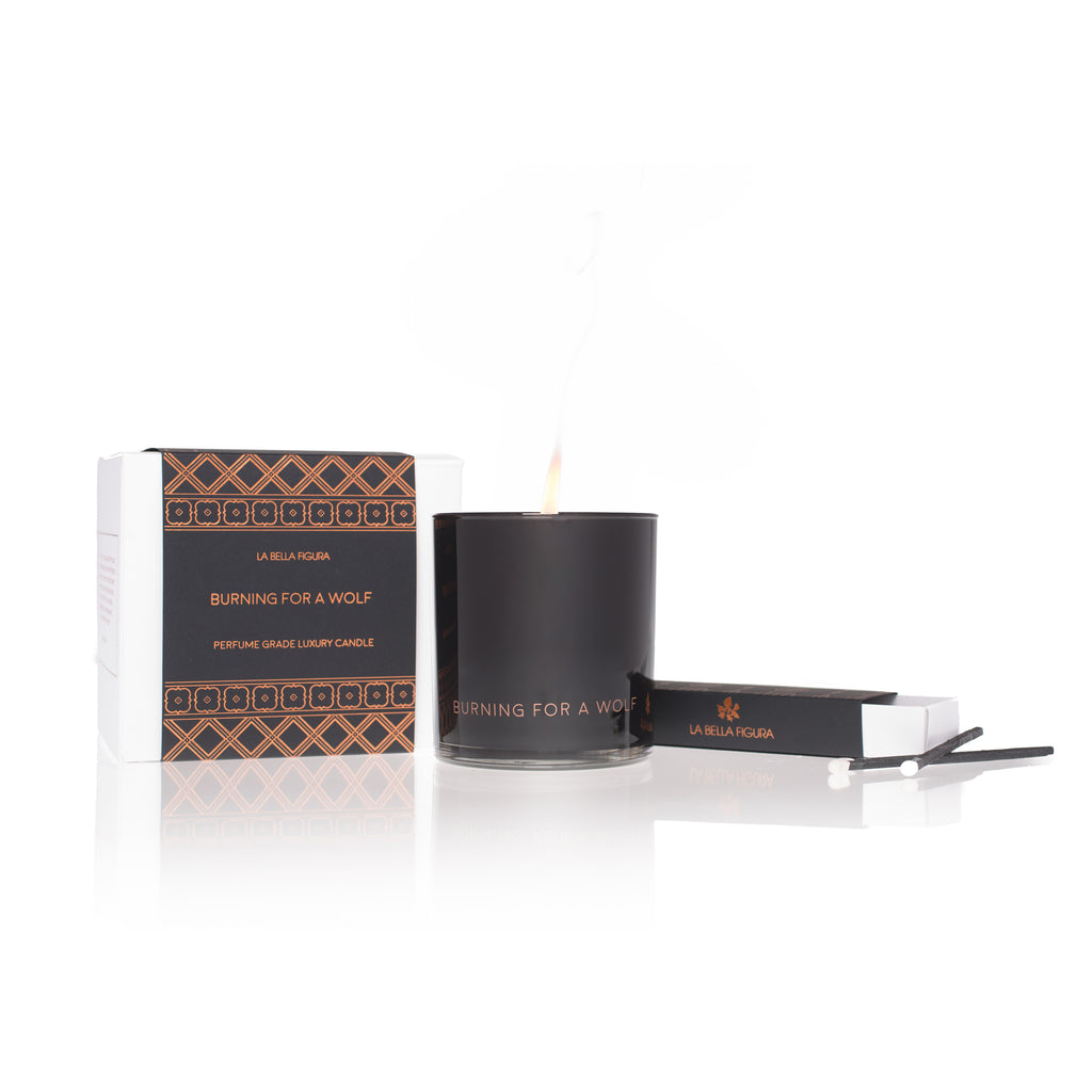 Burning For A Wolf-Perfume Grade Luxury Candle - La Bella Figura Beauty