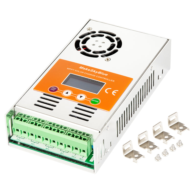 60A MPPT Solar Charge Controller w/Wifi for Lithium battery or 12V 24V 36V 48V Lead-acid V119