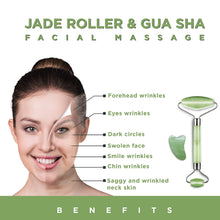 Load image into Gallery viewer, FORSIL Jade Roller and Gua Sha Set