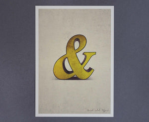 Ampersand Salvaged Signage postcard
