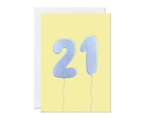 21st Balloon card