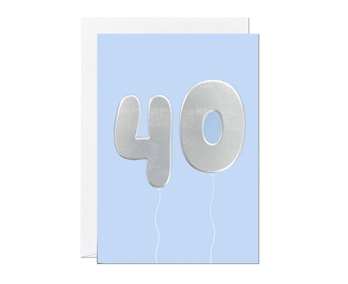40th Balloon card