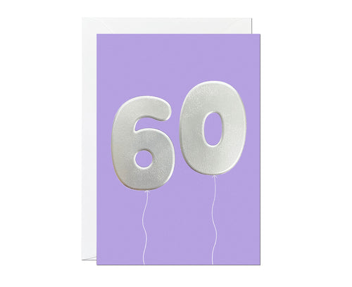 60th Balloon card