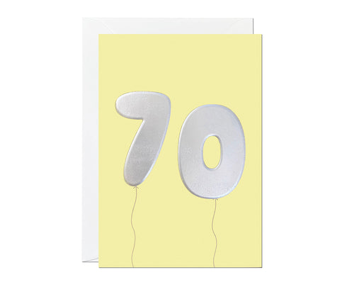 70th Balloon card