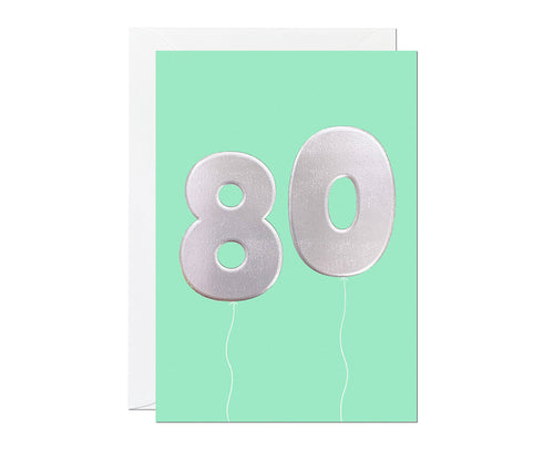 80th Balloon card
