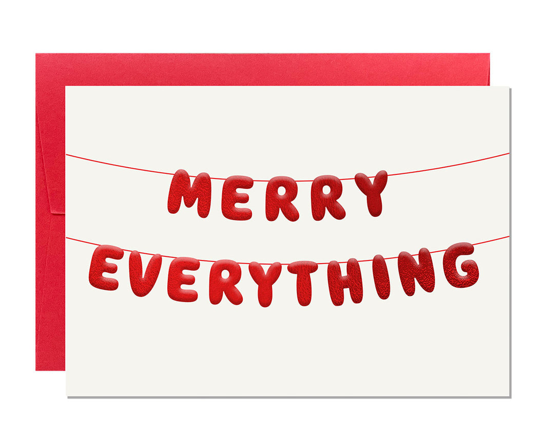 Merry Everything Embossed Christmas card