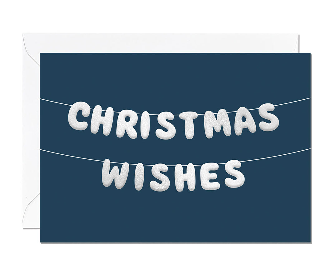 Christmas Wishes Embossed Christmas card