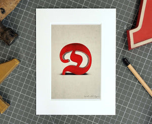 Letter D Salvaged Signage postcard