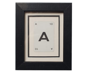 Mini A Framed Playing Card