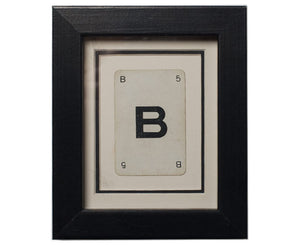 Mini B Framed Playing Card