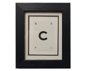 Mini C Framed Playing Card
