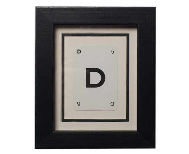 Mini D Framed Playing Card