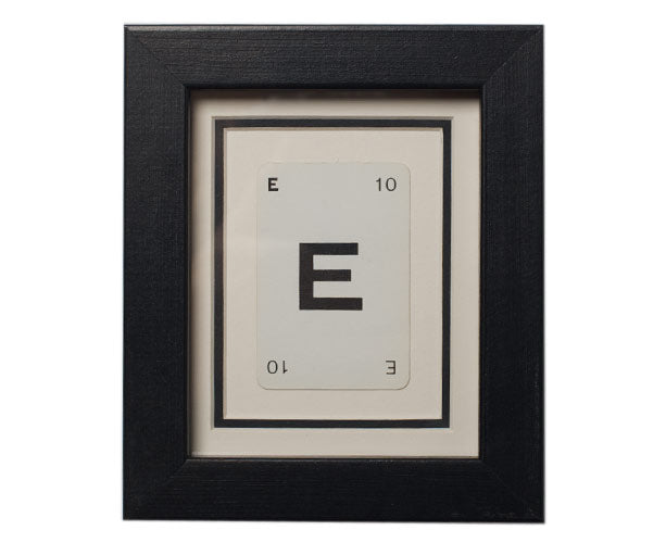 Mini E Framed Playing Card