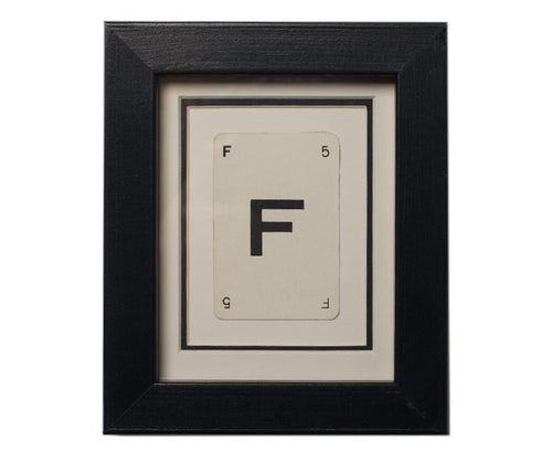 Mini F Framed Playing Card