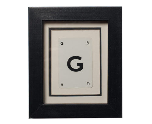 Mini G Framed Playing Card