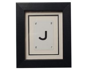 Mini J Framed Playing Card