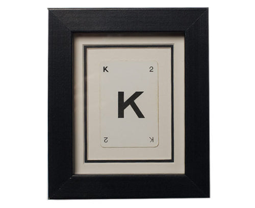 Mini K Framed Playing Card