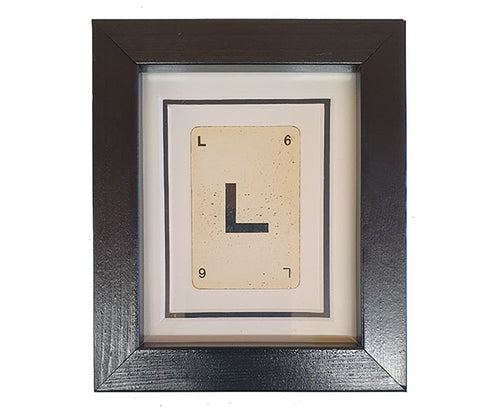 Mini L Framed Playing Card