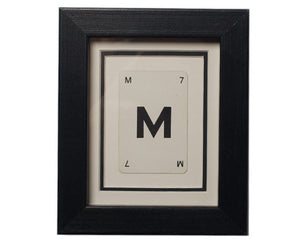 Mini M Framed Playing Card