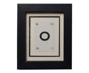Mini O Framed Playing Card